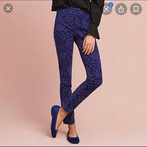 The Essential Skinny by Anthropologie velvet pants